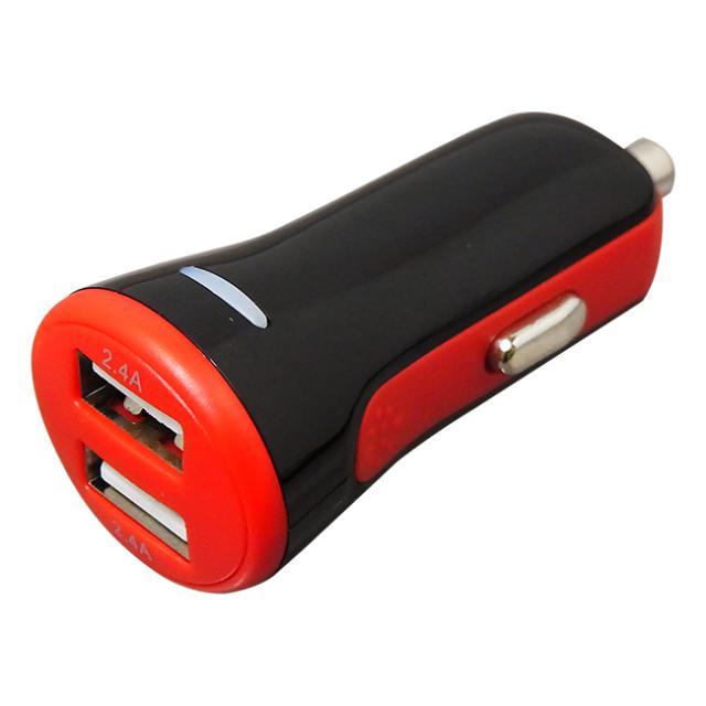 USB2ポート DC充電器 自動認識 4.8A